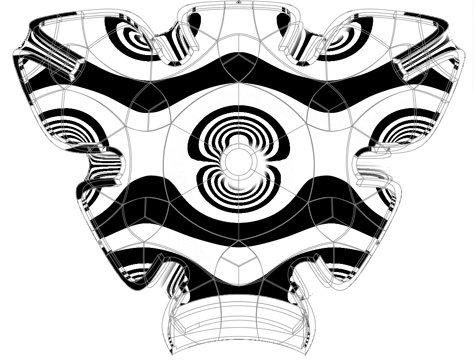 NURBS model with zebra highlighting